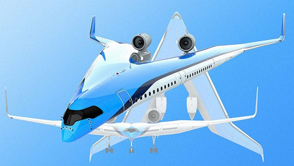 KLM Flying V Plane